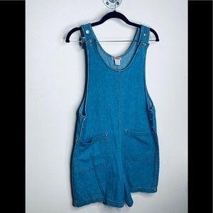 Vintage denim romper/overalls.